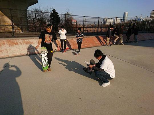 フリースタイルスケートボーダー中田君