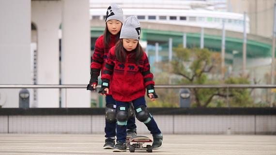 KoKoa&Saraスケートボード シンクロ