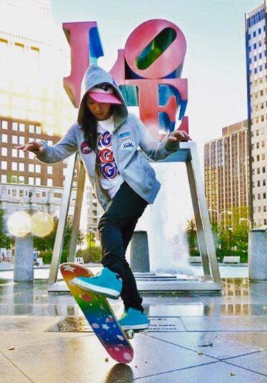 mic freestyle skate girl