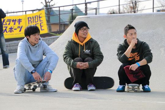 名古屋から参加したフリースタイルスケートボードのアップカマーたち