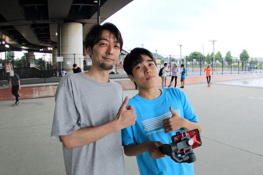神奈川聡と若手FScomライダーKanata