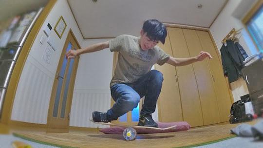 スケートボードを自宅で練習してみた