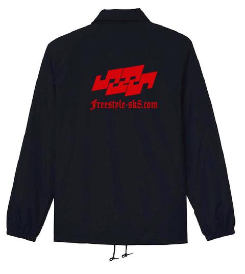 ブラックのコーチジャケット FScom